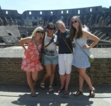 Cody. Renee, Nicole and Ashley in the Colosseum