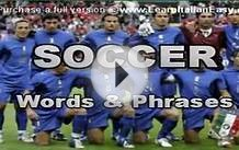 Italian lesson: Soccer- preview