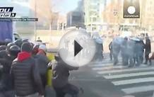 Italy: Police and students clash in Milan at anti