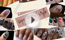 Pink Leopard nail art tutorial In rhinestones designs for