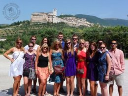 Visiting Assisi during study abroad in Italy